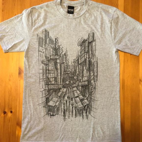 Dephect T-shirt Navy Fire